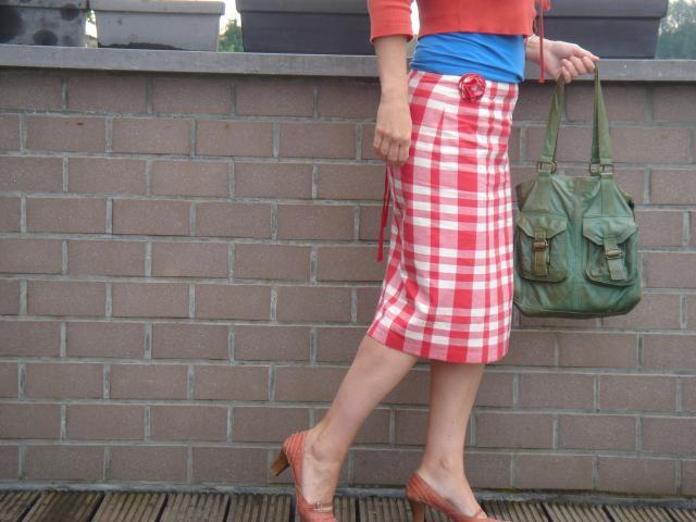 Patroon rechte rok met elastiek